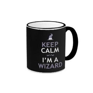 Keep Calm I'm A Wizard Ringer Coffee Mug