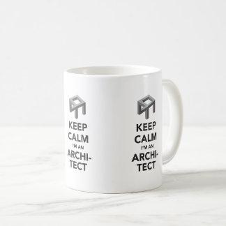 Keep calm I'm an architect, 3 X image coffee mug