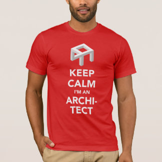 Keep Calm I'm an Architect with optic illusion T-Shirt