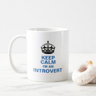 Keep Calm I'm An Introvert Coffee Mug