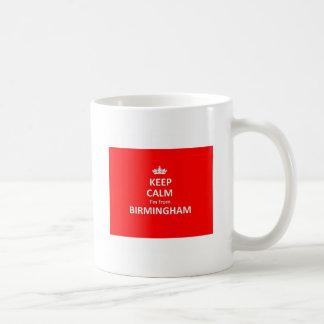 Keep calm I'm from Birmingham Basic White Mug