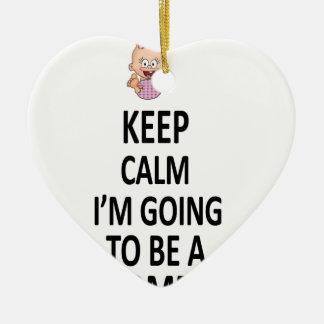 Keep Calm I'm Going To Be A Mommy Ceramic Heart Decoration