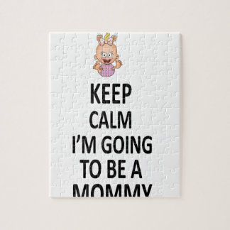 Keep Calm I'm Going To Be A Mommy Jigsaw Puzzle
