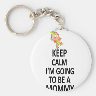 Keep Calm I'm Going To Be A Mommy Key Ring