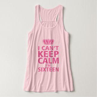 Keep Calm I'm Sixteen|Sweet Sixteen Pink Singlet