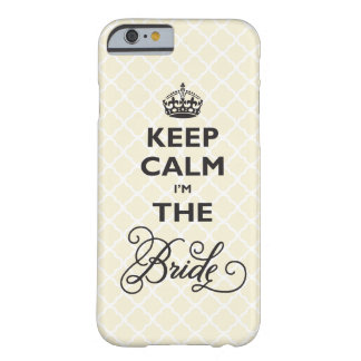 Keep Calm I'm The Bride Stylish Chic Quatrefoil Barely There iPhone 6 Case