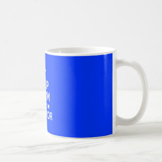Keep Calm I'm With The Doctor (with crown) Basic White Mug