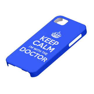 Keep Calm I'm With The Doctor (with crown) iPhone 5 Case