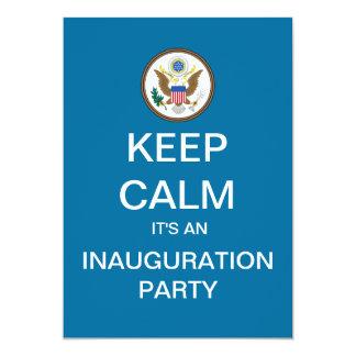 KEEP CALM Inauguration Party Custom Invites