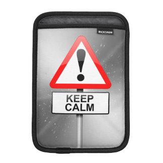 Keep calm. iPad mini sleeves