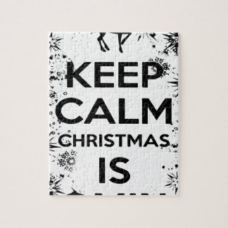 KEEP CALM IT CHRISMAS IS COMING.ai Jigsaw Puzzle