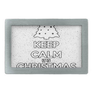 KEEP CALM IT IS CHRISMAS SOON.ai Belt Buckle