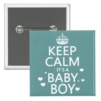 Keep Calm It s A Boy Pinback Buttons