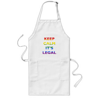 Keep Calm It's Legal Support LGBT Apron