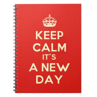 Keep Calm it's a new day Spiral Notebooks