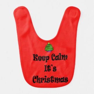 Keep Calm Its Christmas and Tree Bib