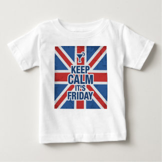 """Keep Calm it's Friday"" Funny relax chill british Baby T-Shirt"