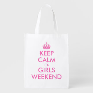 Keep calm it's girls weekend reusable shopping bag