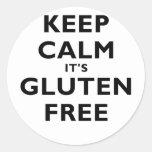 Keep Calm Its Gluten Free Classic Round Sticker