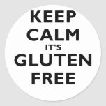 Keep Calm Its Gluten Free Stickers