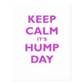 Keep Calm Its Hump Day Postcard