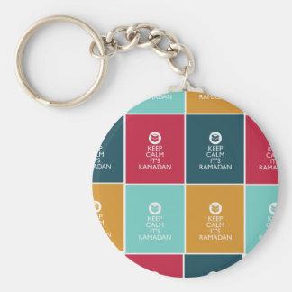 keep calm its ramadan! basic round button key ring