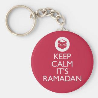 keep calm its ramadan basic round button key ring