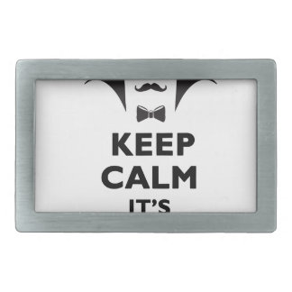 Keep calm it's scare time belt buckles