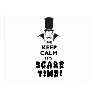 Keep calm it's scare time postcard