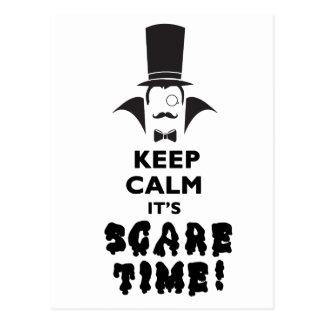 Keep calm it's scare time postcard