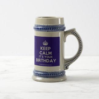 Keep Calm It's Your Birthday Coffee Mug