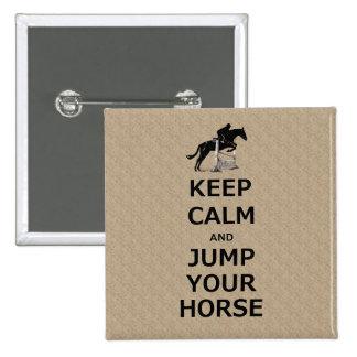 Keep Calm Jump Your Horse Pinback Button