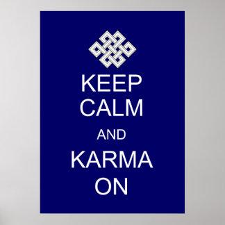 Keep Calm Karma Poster