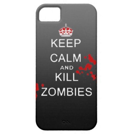 keep calm kill zombie phone case iPhone 5 cover