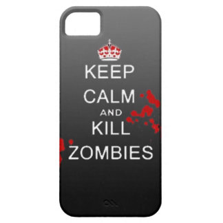 keep calm kill zombie phone case