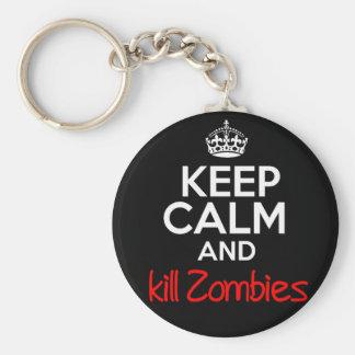 Keep Calm Kill Zombies Keychain