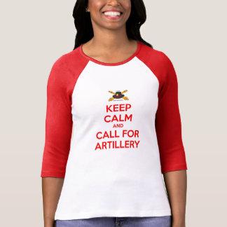 Keep Calm Ladies Raglan T Shirt