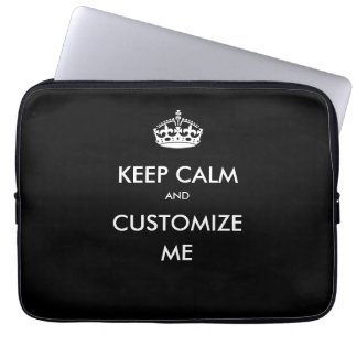Keep Calm Laptop Case