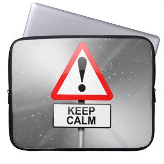 Keep calm. laptop computer sleeve