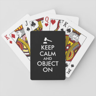 Keep Calm Lawyer Gift Gavel Playing Cards Custom