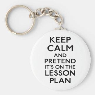 Keep Calm Lesson Plan Keychains