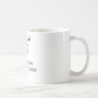 Keep Calm Let Rudolph Guide Sleigh Basic White Mug