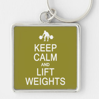 Keep Calm & Lift Weights custom color key chain