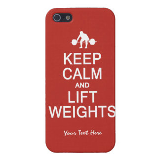 Keep Calm & Lift Weights custom iPhone cases Case For The iPhone 5