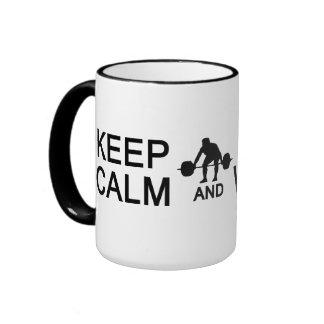 Keep Calm & Lift Weights mug - choose style
