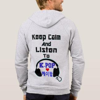 ♪♥Keep Calm & Listen to KPop Fleece Zip Hoodie♥♫ Hoodie
