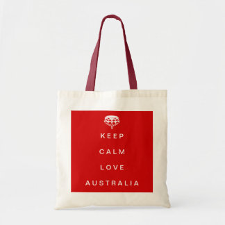 Keep Calm Love Australia tote bag