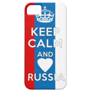 Keep Calm & Love Russia iPhone 5 Case