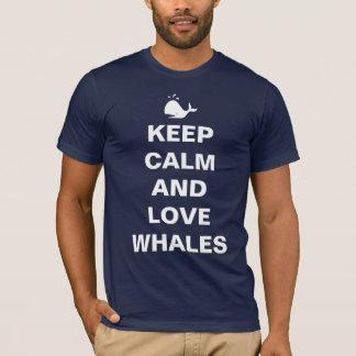 Keep calm love whales T-Shirt