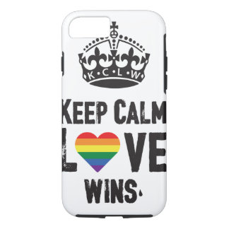 Keep calm love wins. iPhone 8/7 case